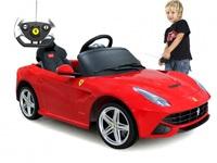 Детский электромобиль Ferrari F12 (красный)