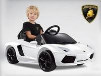 Детский электромобиль Lamborghini Aventador LP 700-4 (белый)