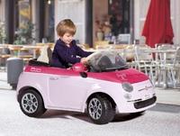 Детский электромобиль Fiat 500 PINK с пультом